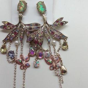 Betsey Johnson New Chandelier Butterfly Earrings
